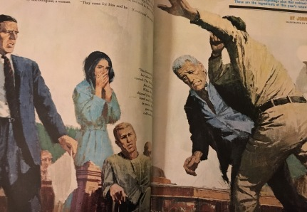 Trial Scene from The Spy Who, Art by Howard Turpin